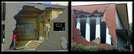 3D Building Mural Illusions