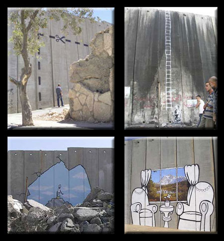Banksy at the West Bank Barrier