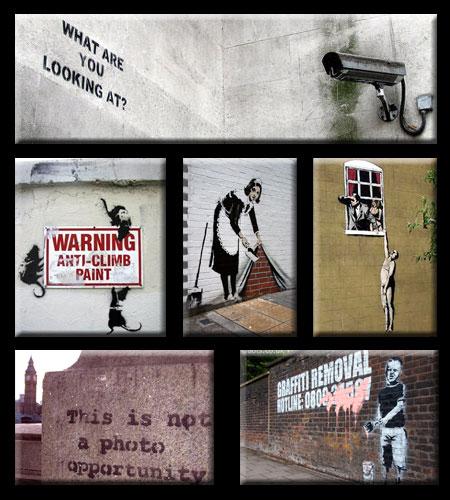 Banksy Stencil Guerilla Street Art