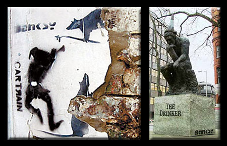 Banksy Stolen Stencil Art and Sculpture
