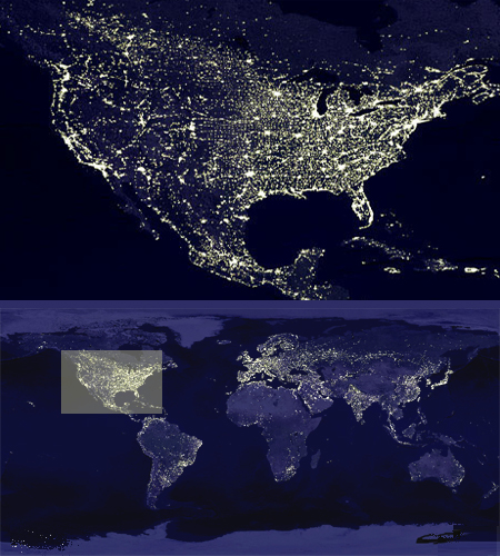 Urban Population Seen from Space