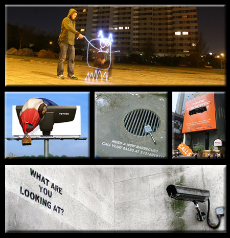 Light Graffiti Guerilla Marketing and Banksy