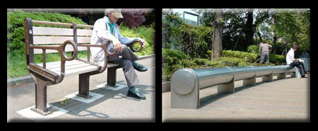 Homeless UNfriendly Urban Furniture