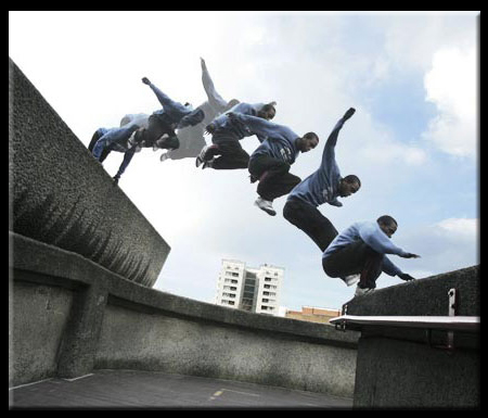 Parkour or Free Running Building Summersault