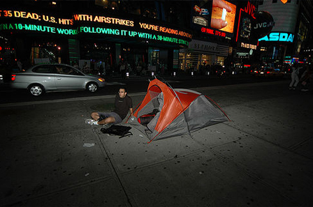 Camping in Times Square 2