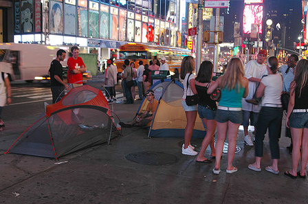 Camping in Times Square 3