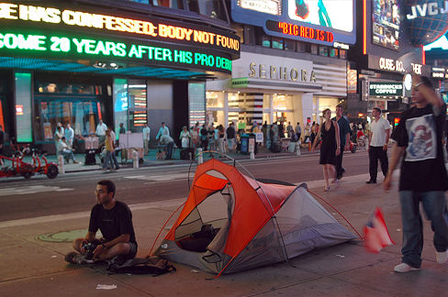 Camping in Times Square 4