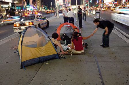 Camping in Times Square 5