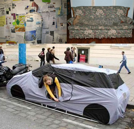 Hooded Sweatshirt, Couch and Car Tent Camouflage