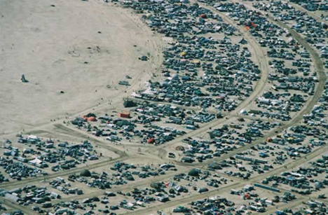 Burning Man Aerial of Shady