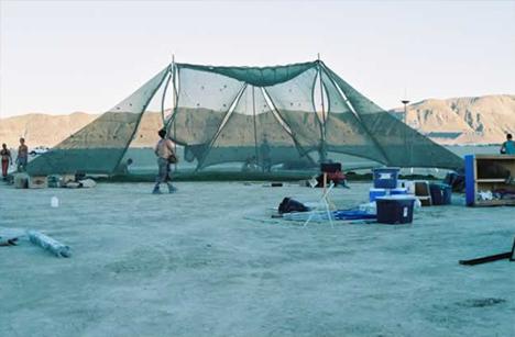 Burning Man Shady in Construction