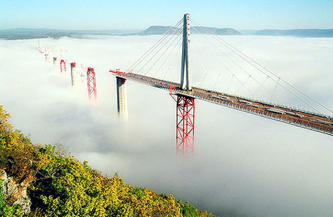 Millau Bridge in the Mist