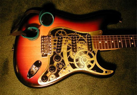 Steampunk Stratocaster