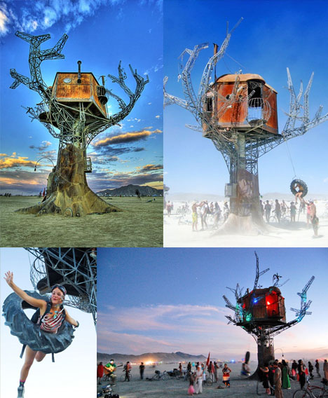 Steampunk Treehouse at Burning Man
