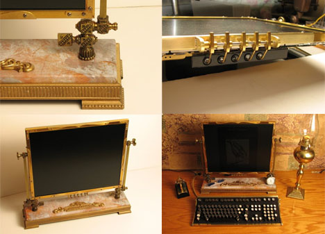 Steampunk Computer Monitor Art