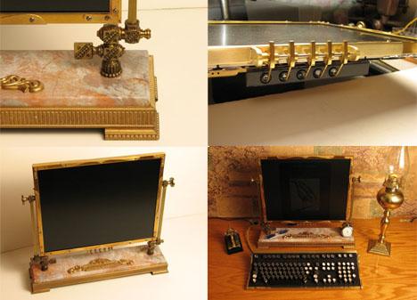 Steampunk Computer Monitor Art