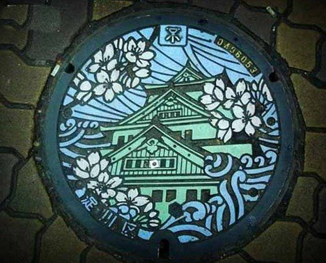 Creatively Painted Manhole Cover