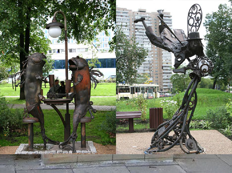 Creative Street Lamp Zodiac Art