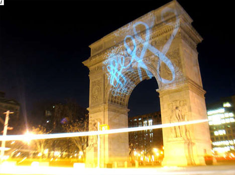 Architectural Light Graffiti