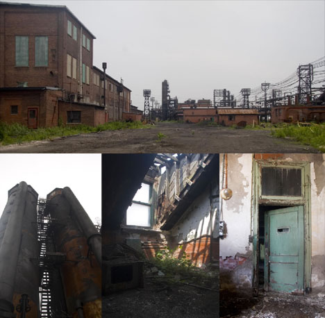 Abandoned Steel Factory Buildings