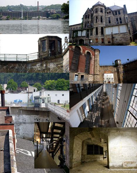 Abandoned Prison Building Complex