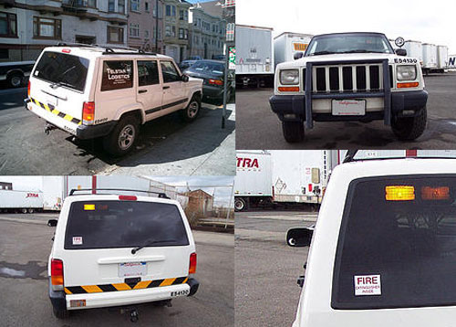 Camouflage Urban Security Vehicle