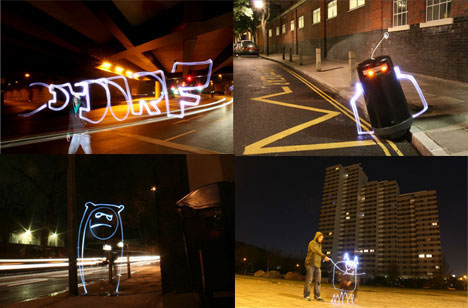 Glowstick Air Graffiti