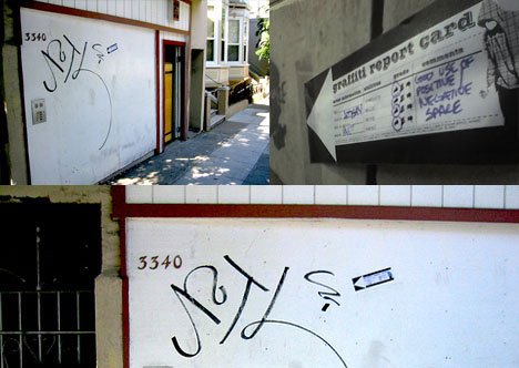 Graffiti Report Card in Action
