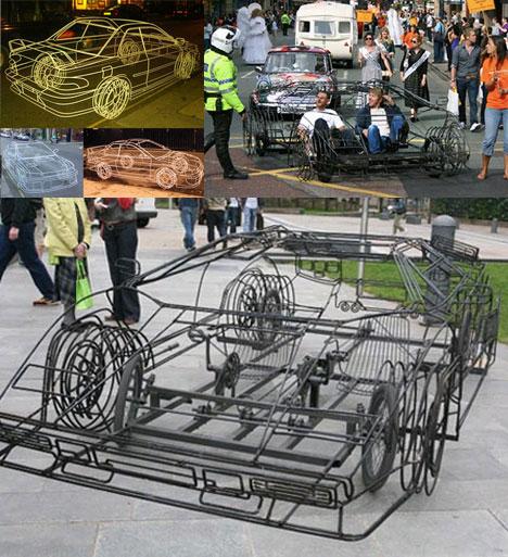 Pedal Powered Wireframe Pseudo-Car