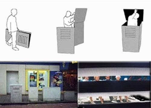 Urban Exploration Utility Box Camouflage