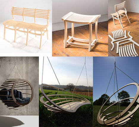 Clever Plywood Chair Bench Furniture. Flat Pack  20 Creative Furniture Designs for Cramped Living   Urbanist