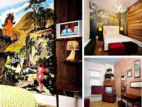 Creative Canadian Artistic Hotel Rooms
