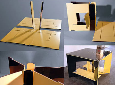Flat pack 20 creative furniture designs for cramped for Flat furniture ideas