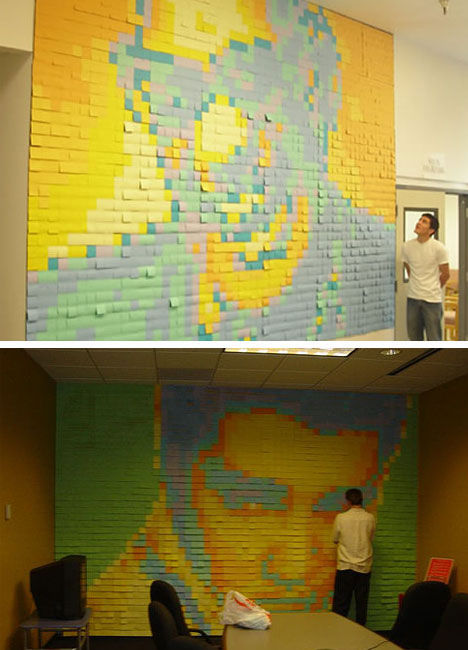 Famous People Post It Mural Art