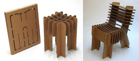 Flatpack Cardboard Chair Furniture Design