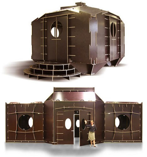 Flatpack Creative Portable House Design