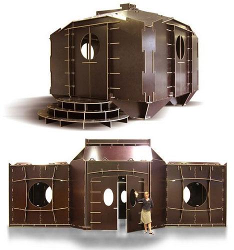 Flatpack Creative Portable House Design