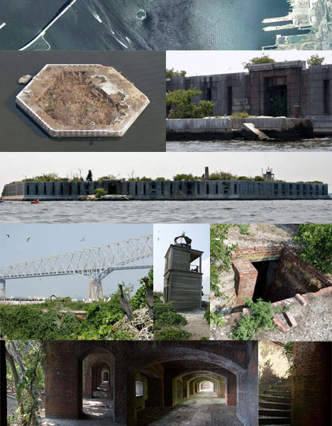 Abandoned Military Island Buildings
