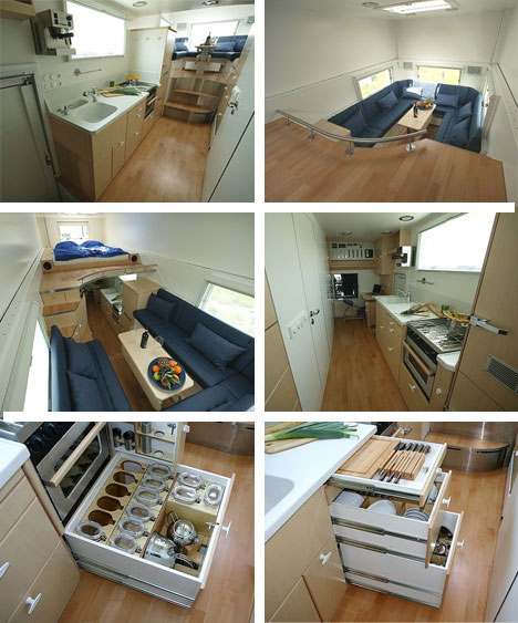 Garbage Truck Mobile Home Interior