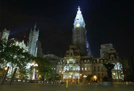 Philadelphia City Hall at Night