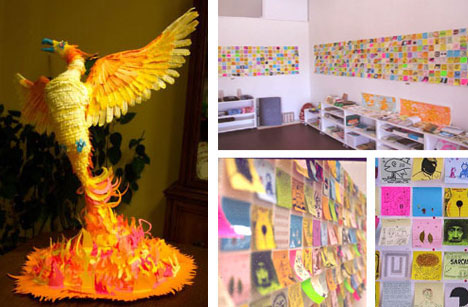 Post It Note Sculpture and Strange Art