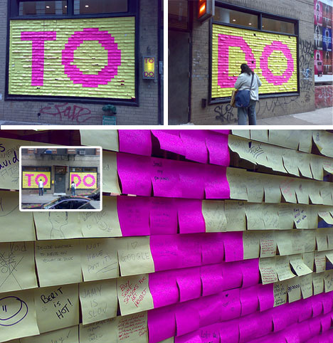 Post It Note To Do List Mural