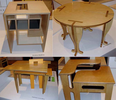 Furnitures Designs flat pack: 20 creative furniture designs for cramped living | urbanist