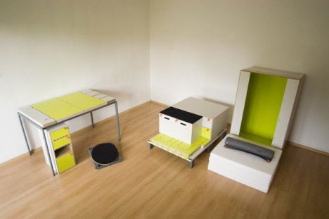 2 Modular Bedroom Furniture Set