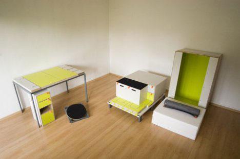 2 Modular Bedroom Furniture Set