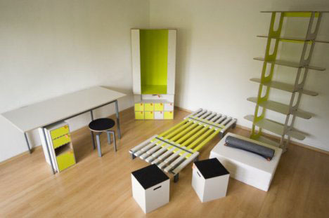 3 Modular Bedroom Furniture Set