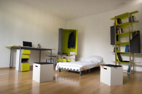 4 Modular Bedroom Furniture Set