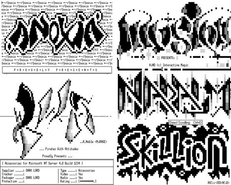 ASCII Geek Graffiti Digital Art Examples