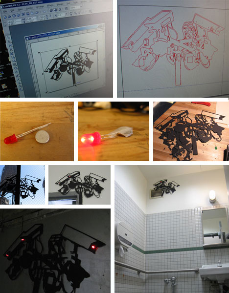 CNC Laser Cut Sculpture Graffiti Art Installation