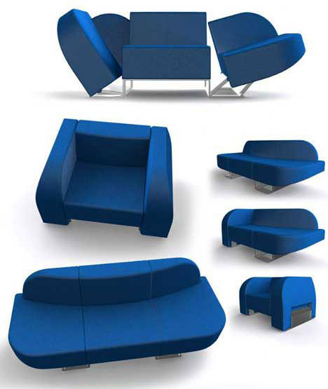 Cool Transforming Sofa Chair Design. Room in a Box  10 Pieces of Clever Transforming Furniture   Urbanist